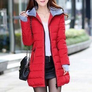 Jackets & Blazers - Women's Zip up Hoodie Slim Fitted Puffer Jacket
